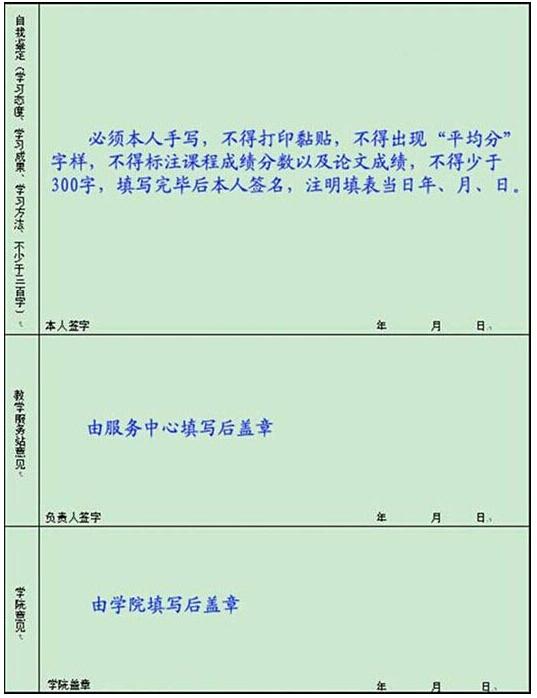 《毕业生登记表》模板内页2-关于201603届毕业 结业 肄业 及学位的申